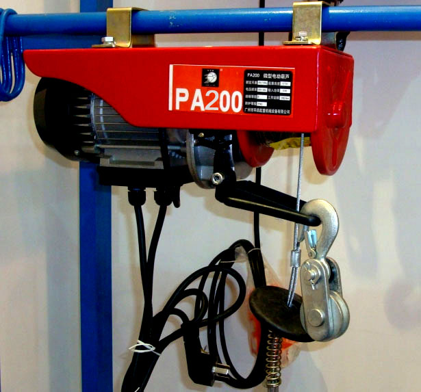 PA200 mini wire rope hoist