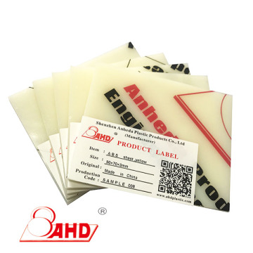 0.5mm 0.8mm 2mm Thick Plastic Board ABS Plate