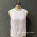 Women's cotton embroidered white top