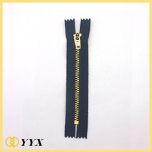 4.5 YG slider gold metal zipper