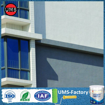 Waterproof coating exterior walls
