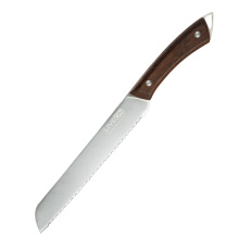8 INCH BREAD KNIFE with WOOD HANDLE