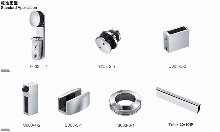 Stainless Steel Sliding Glass Door Hardware
