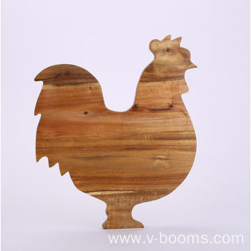 Cock Shape Acacia Chopping Board