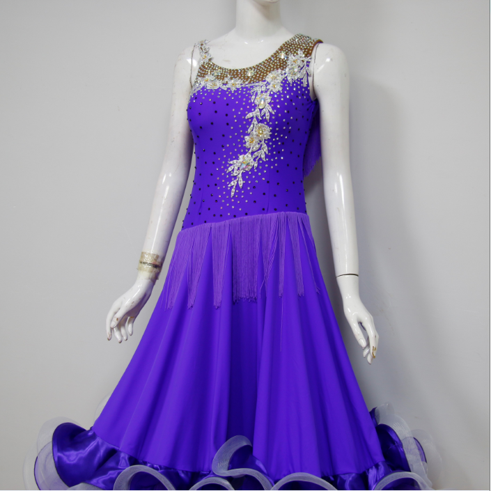 Purple Professional Ballroom Dance Dresses For Sale