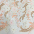 Graceful Summer 3D Chiffon Flower Embroidery Fabric