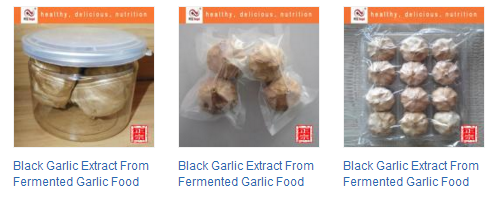 black garlic products