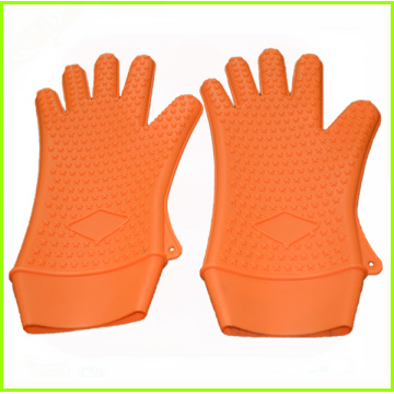 Best quality and factory for High Heat Gloves LFGB standard silicone cooking gloves supply to French Polynesia Factory