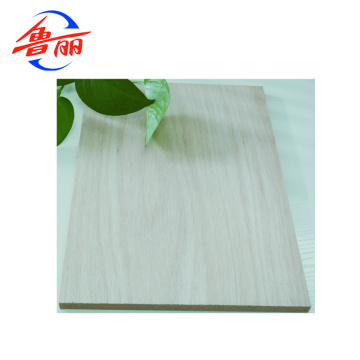 Commercial plywood with Okoume or Bintangor faced