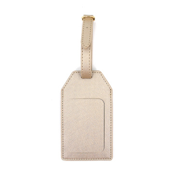 Sublimation Travel Saffiano Pu leather Luggage Tag