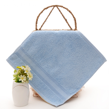 Cheap Plain Silver Face Towel with Classic Satin