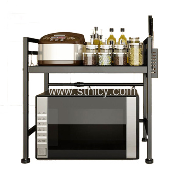 Adjustable Stainless Steel Kitchen Microwave Oven Shelf