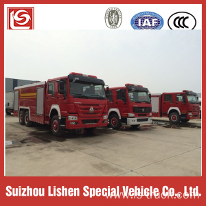 Howo fire fighting truck 6x4 drive 10t