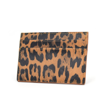 Custom Print Leopard Credit Card Holder