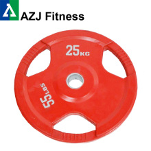 25KG Color Tri-grip Rubber Coated Olympic Weight Plate