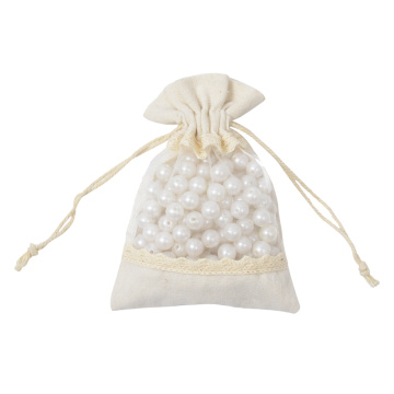 High Quality Exquisite Craft Small Cotton Pouch Drawstring Bag