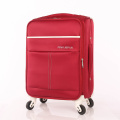 Red and white fabric strong luggage