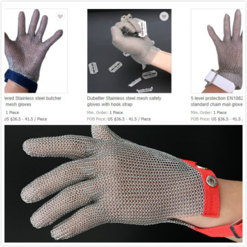 Chain mail gloves with EVA strap