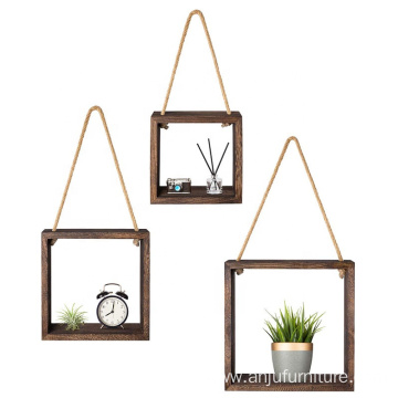 Hanging Square Floating Shelves Wall Mounted Cube Display wall shelf