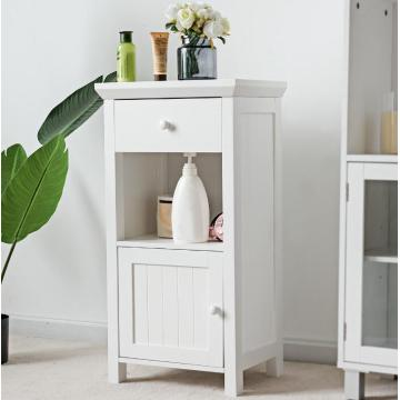 Narrow Bathroom Storage Stand Alone Cabinet