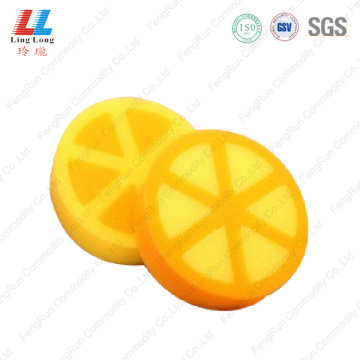 3D orange fruit bath sponge