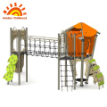 Playhouse Outdoor Equipment With Tower For Children