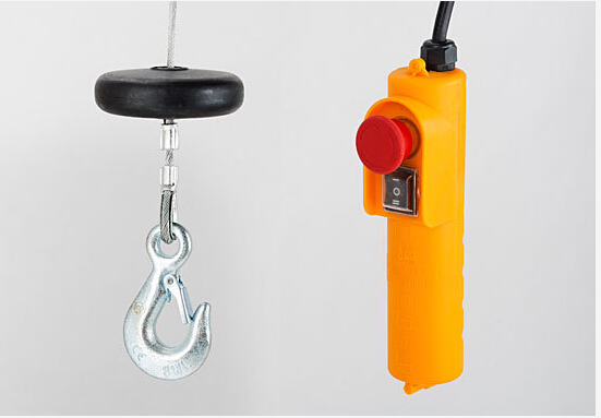 PA mini electric wire rope cable sling hoist