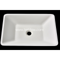 Modern pure acrylic square countertop washbasin for hotel