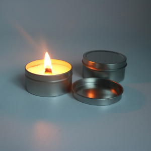 Natural Soy Fragrance Wooden Wick Travel Tin Candles