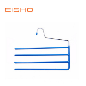 EISHO PVC Coating Multi-bars Metal Hanger For Pants