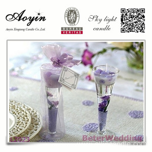 Cup shape gel wax candle wedding candles wholesale