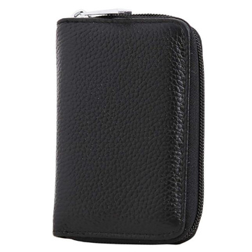 Customized Stylish Small Leather Credit Card Case
