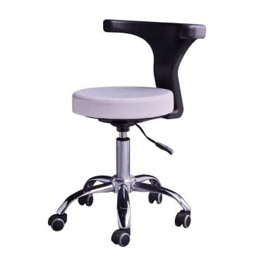 Adjustable SPA salon stool with backrest