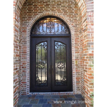 Full Arch Wrought Iron Door with Transom