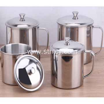 Single Layer Stainless Steel Cup With Handle Cup