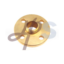 Brass thread connection flange