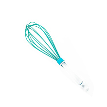 large plastic transparent handle silicone coated whisk