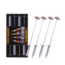 4pcs skewers set with handy slider