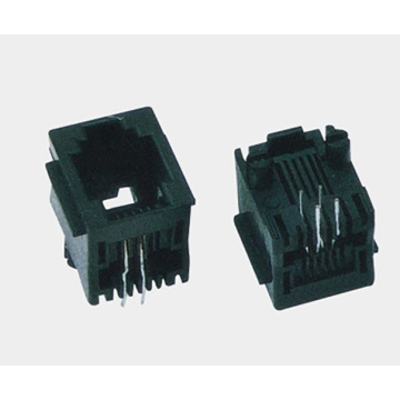 RJ12 Jack Top entry 6P4C Full Plastic
