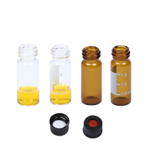 2ml screw Autosampler Vials with black caps