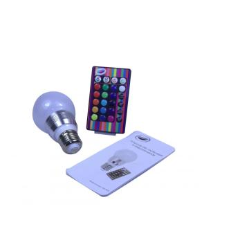 RGB Color Changing LED Bulb with IR Remote Control