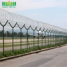 Galvanized Barbed Security Perimeter Airport Wire Mesh Fence