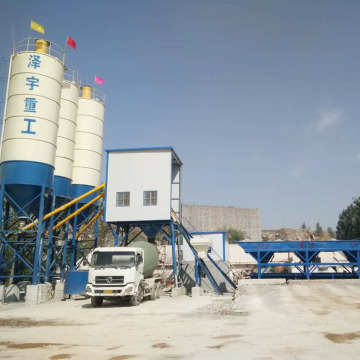 Precast stationary Russia HZS50 concrete batching plant
