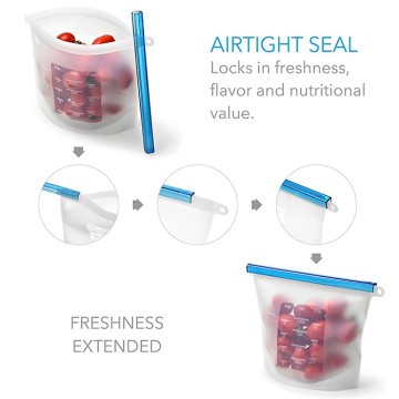 Reusable Silicone Vacuum Food Sealer Bags