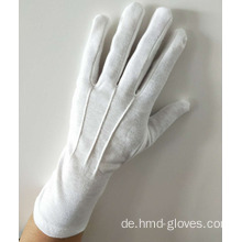 Lange Marching Band Handschuhe / White Cotton Militärhandschuh