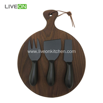Oxide Black Cheese Knife With Block