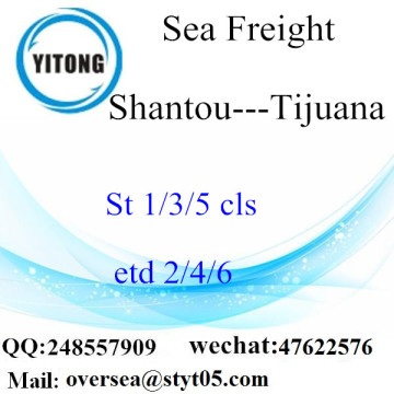 Shantou Port LCL Consolidation To Tijuana