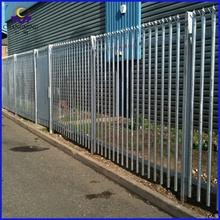 1.8m high W section Hot Dip Galvanised Palisade Fences