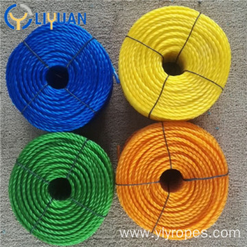 3 strand twisted polypropylene pe rope