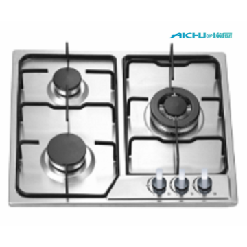 6MM Built In Stainless Brushed Gas Hob